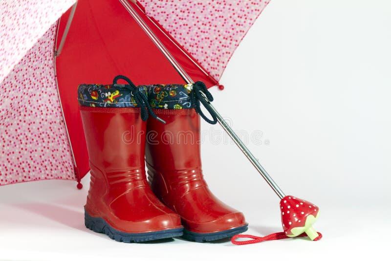 ομπρέλα μποτών στοκ φωτογραφία