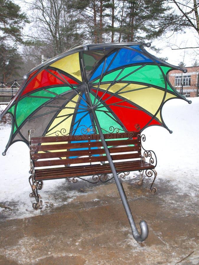ομπρέλα ουράνιων τόξων στοκ φωτογραφίες με δικαίωμα ελεύθερης χρήσης