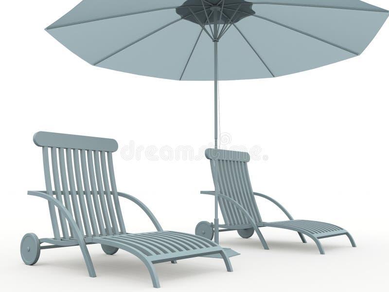 ομπρέλα πάγκων ελεύθερη απεικόνιση δικαιώματος