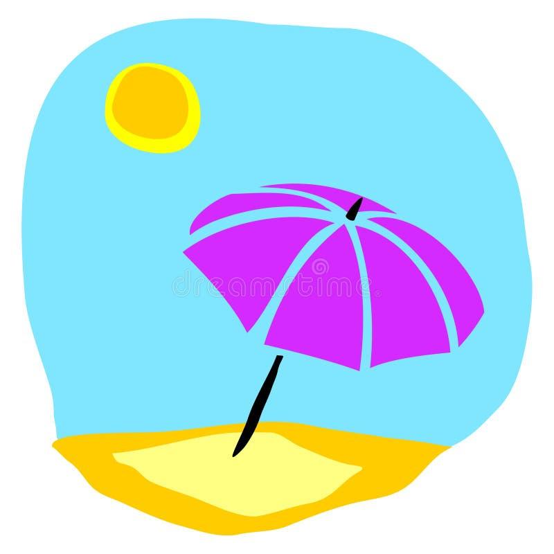 ομπρέλα παραλιών ελεύθερη απεικόνιση δικαιώματος