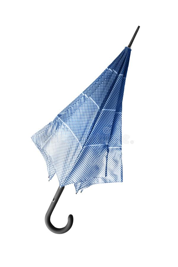 Ομπρέλα που απομονώνεται μπλε στοκ εικόνες