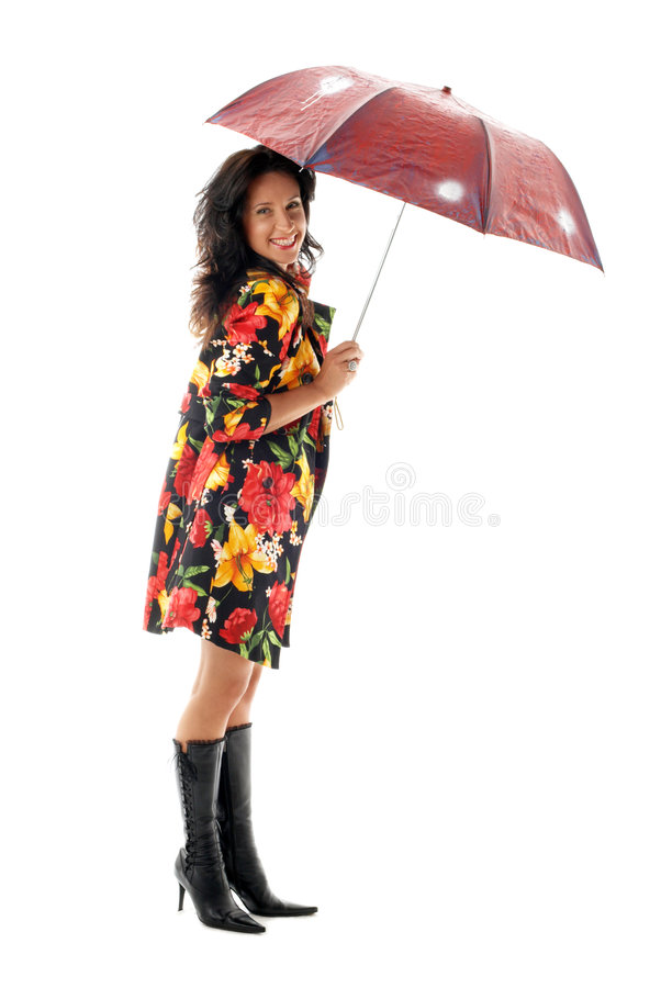 ομπρέλα 2 κοριτσιών στοκ φωτογραφία