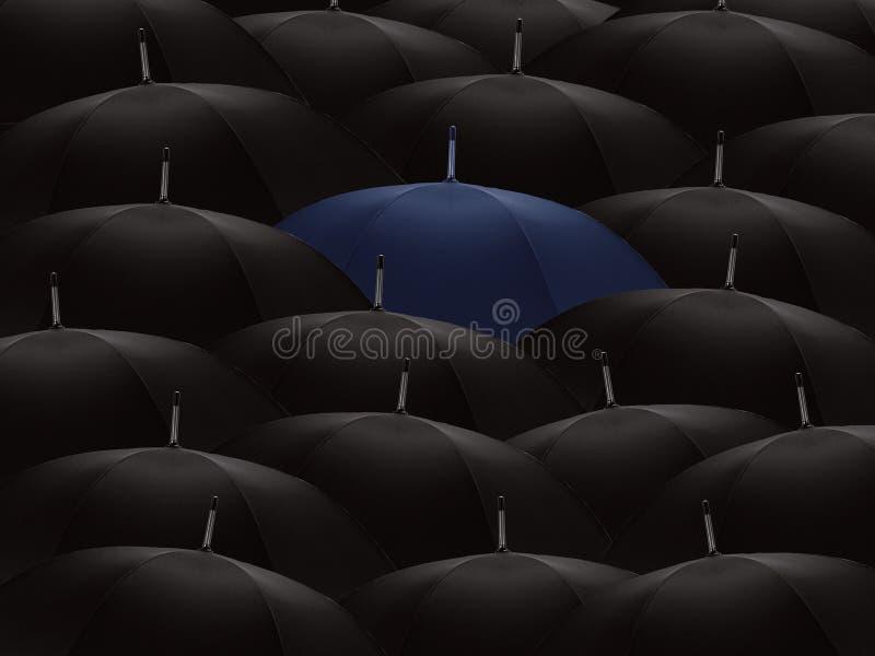 ομπρέλες πλήθους στοκ εικόνα