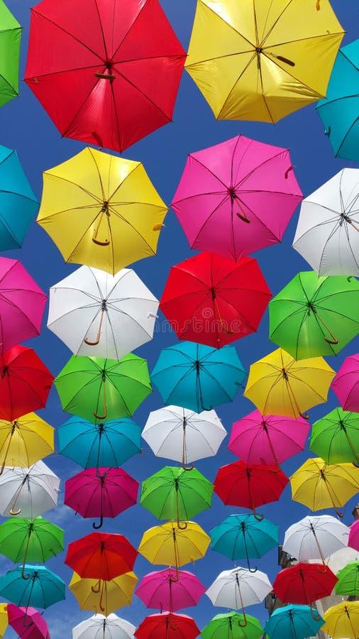 Ομπρέλες στον ουρανό στοκ φωτογραφία με δικαίωμα ελεύθερης χρήσης