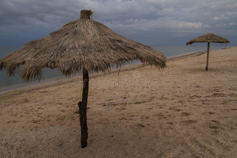 Ομπρέλες φιαγμένες από μπαμπού και καλάμους στοκ εικόνα με δικαίωμα ελεύθερης χρήσης