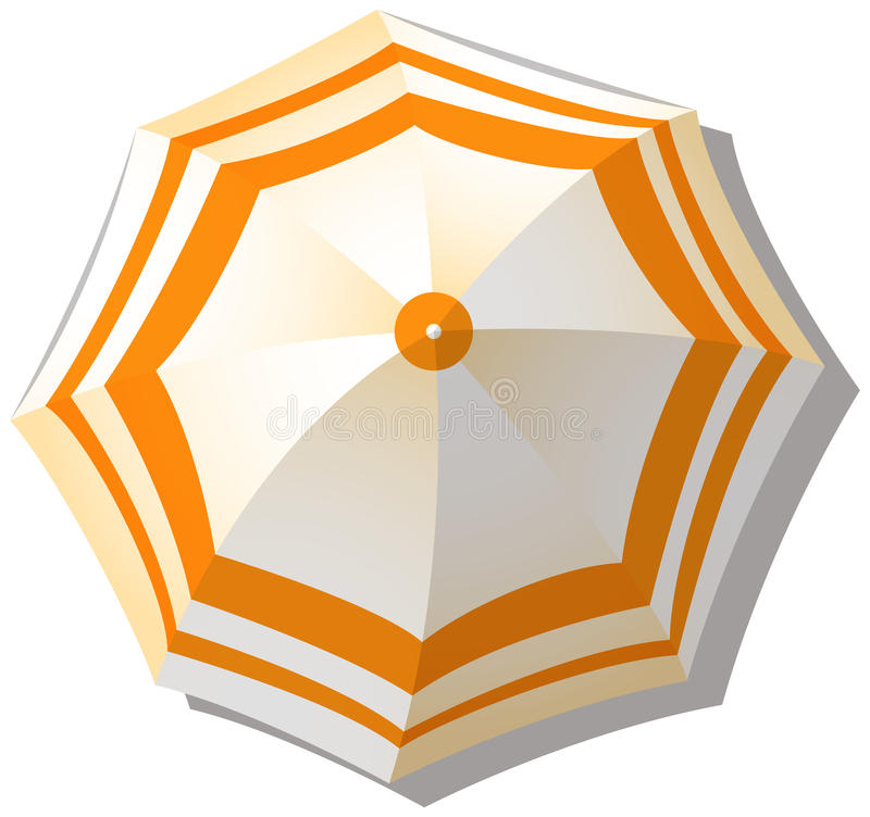 Ομπρέλα από τη τοπ άποψη διανυσματική απεικόνιση