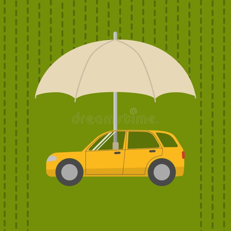 ομπρέλα αυτοκινήτων κάτω ελεύθερη απεικόνιση δικαιώματος