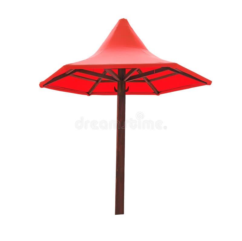 Ομπρέλα παραλιών που απομονώνεται σε ένα άσπρο υπόβαθρο στοκ εικόνα