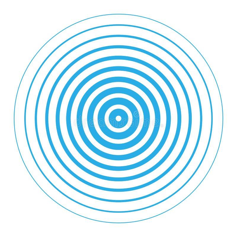 Ομόκεντρα στοιχεία κύκλων οθονών ραντάρ ελεύθερη απεικόνιση δικαιώματος