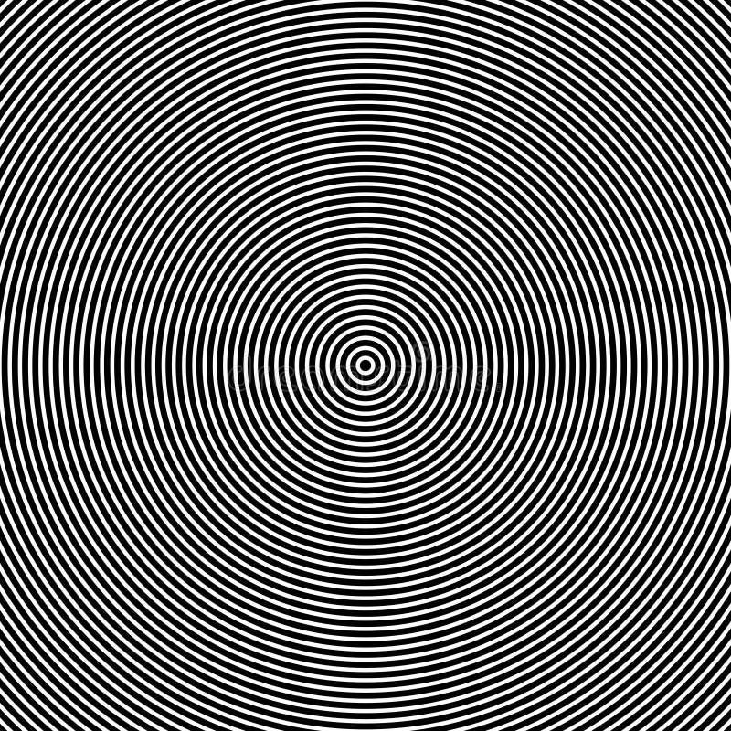 Ομόκεντρη οπτική επίδραση κύκλων διανυσματική απεικόνιση