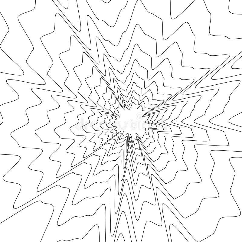 Ομόκεντρο κυκλικό σχέδιο Τυχαία έκρηξη, ακτινοβολία, ακτινωτό ele διανυσματική απεικόνιση