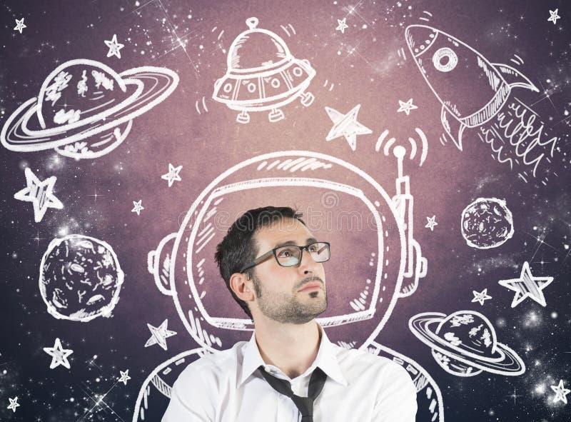 Ονειρεμένος επιχειρηματίας διανυσματική απεικόνιση