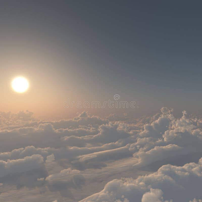 Ονειροπόλα σύννεφα διανυσματική απεικόνιση
