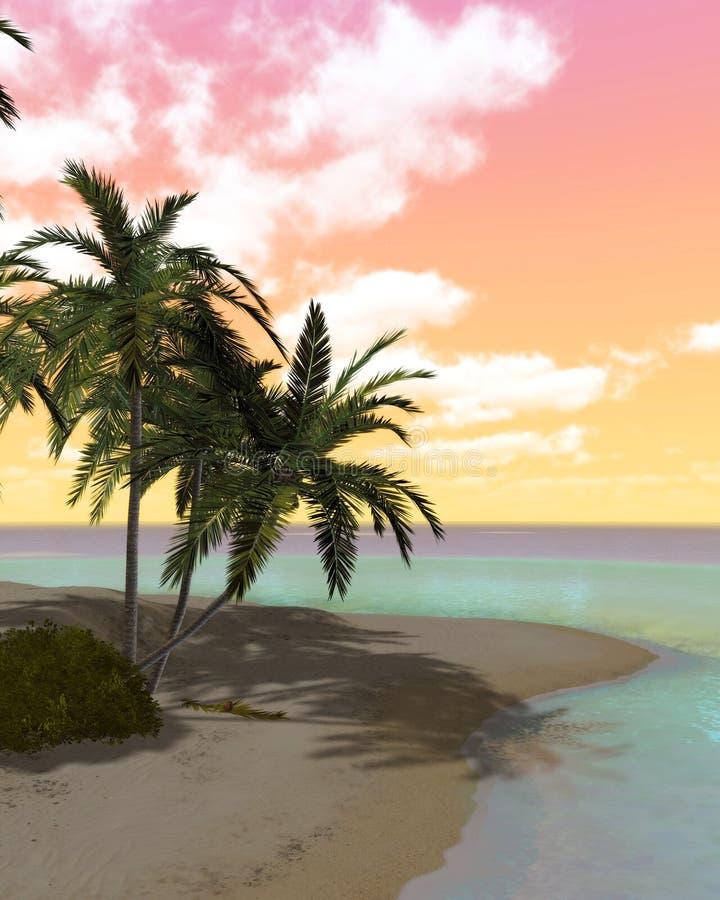ονειροπόλο νησί ερήμων διανυσματική απεικόνιση