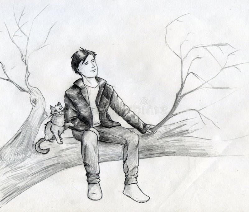 Ονειροπόλοι στο δέντρο Στοκ Εικόνα