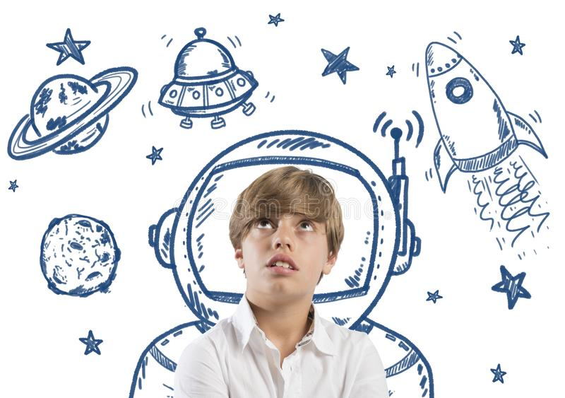 Ονειροπόλος παιδιών διανυσματική απεικόνιση