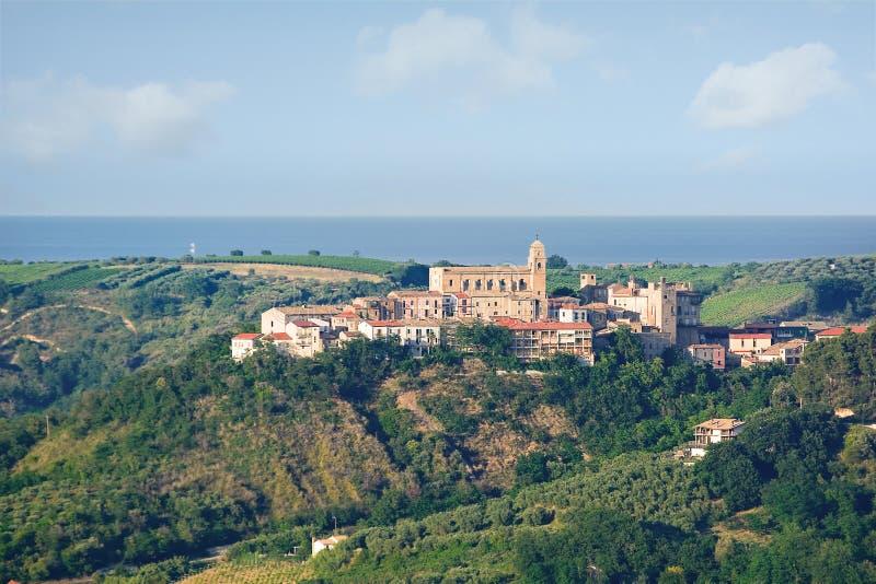 Ονομασμένο χωριό Miglianico Chieti στην επαρχία (Ιταλία) στοκ φωτογραφία με δικαίωμα ελεύθερης χρήσης