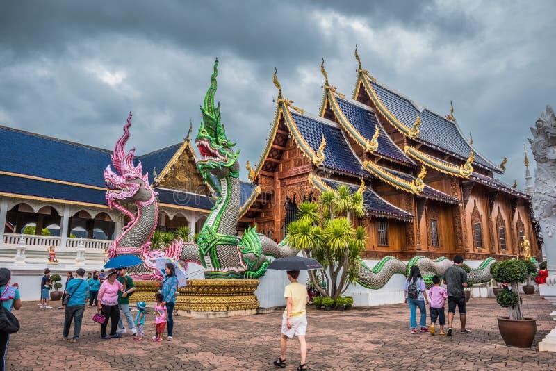 """Ονομασμένο """"Wat κρησφύγετο απαγόρευσης Salee Sri Muang Gan Wat κρησφύγετων """"της Ταϊλάνδης ναός στοκ φωτογραφίες"""
