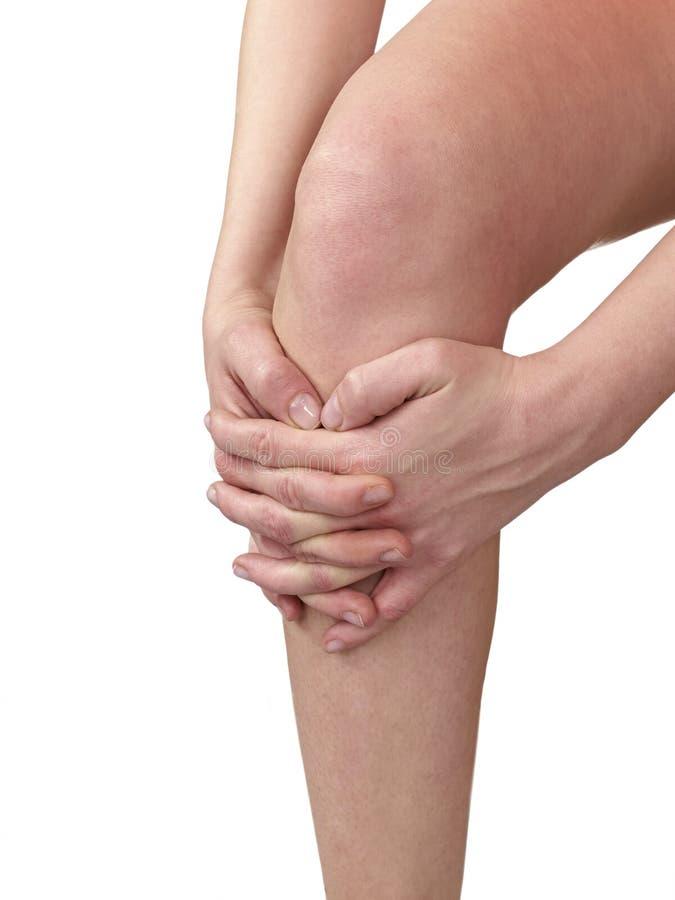 οξεία γυναίκα πόνου γονάτων στοκ φωτογραφία με δικαίωμα ελεύθερης χρήσης