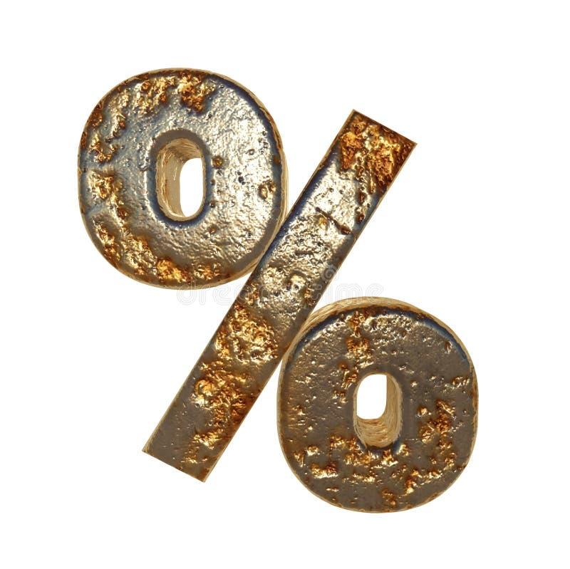 Οξυδωμένα τοις εκατό συμβόλων μετάλλων απεικόνιση αποθεμάτων