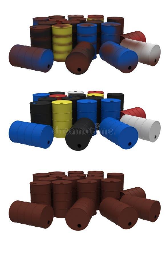 Οξυδωμένα βαρέλια απεικόνιση αποθεμάτων