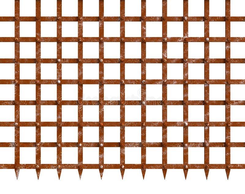 Οξυδώνοντας πύλη σιδήρου με το ακιδωτό κατώτατο σημείο στοκ εικόνα με δικαίωμα ελεύθερης χρήσης
