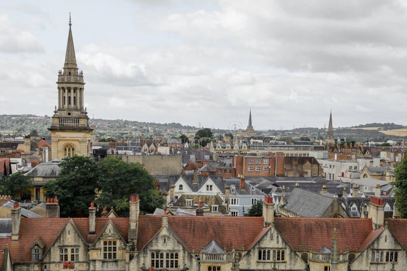Οξφόρδη, Ηνωμένο Βασίλειο - 21 Αυγούστου, πανόραμα πόλεων στις 21 Αυγούστου, στοκ φωτογραφία με δικαίωμα ελεύθερης χρήσης