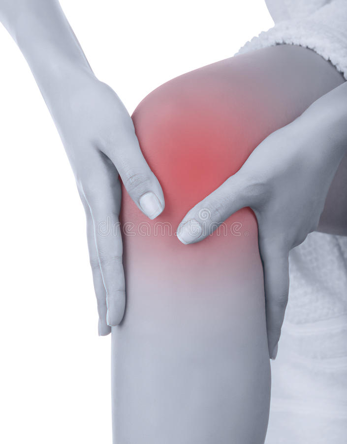 Οξύς πόνος στο γόνατο στοκ φωτογραφία με δικαίωμα ελεύθερης χρήσης