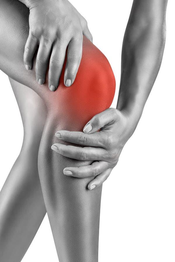 Οξύς πόνος στο γόνατο στοκ εικόνα