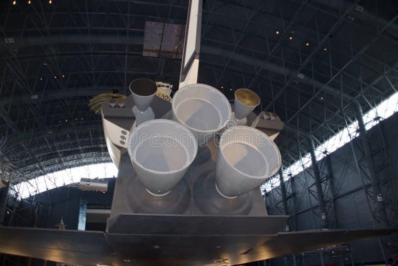 οπίσθια διαστημική όψη σαϊτών στοκ εικόνα με δικαίωμα ελεύθερης χρήσης