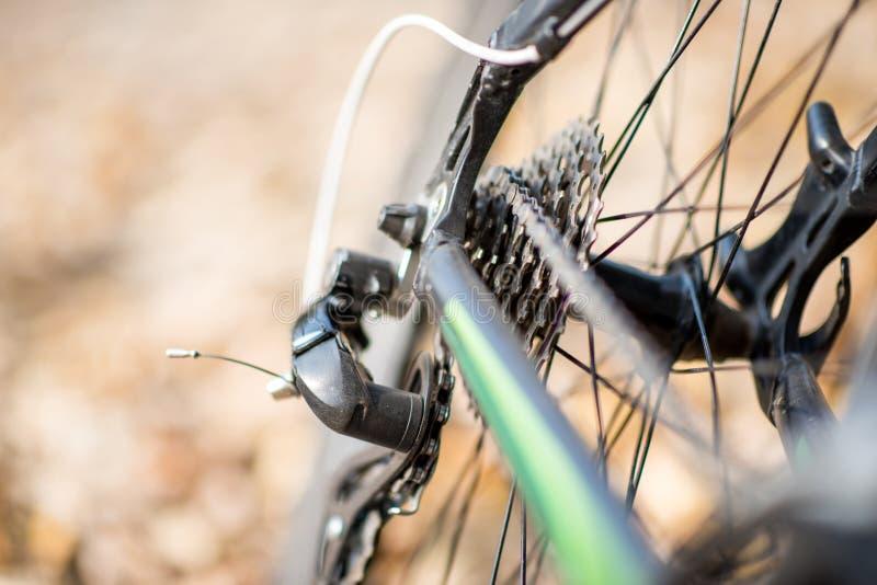 Οπίσθια ρόδα του ποδηλάτου στοκ εικόνα