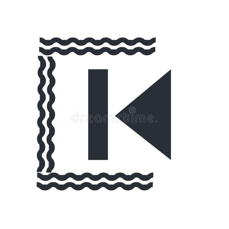 Οπίσθια σημάδι και σύμβολο εικονιδίων διαδρομής διανυσματικά που απομονώνονται στο άσπρο υπόβαθρο, οπίσθια έννοια λογότυπων διαδρ απεικόνιση αποθεμάτων