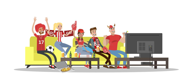 Οπαδοί ποδοσφαίρου καθορισμένοι ελεύθερη απεικόνιση δικαιώματος