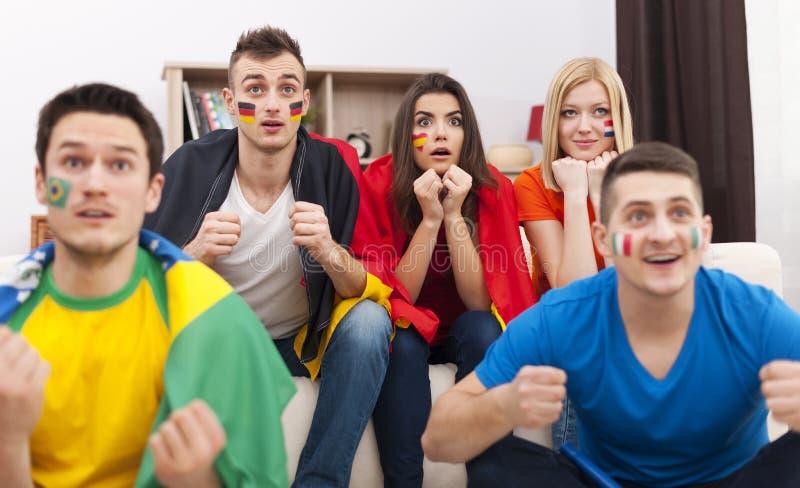 Οπαδοί ποδοσφαίρου στοκ φωτογραφία με δικαίωμα ελεύθερης χρήσης