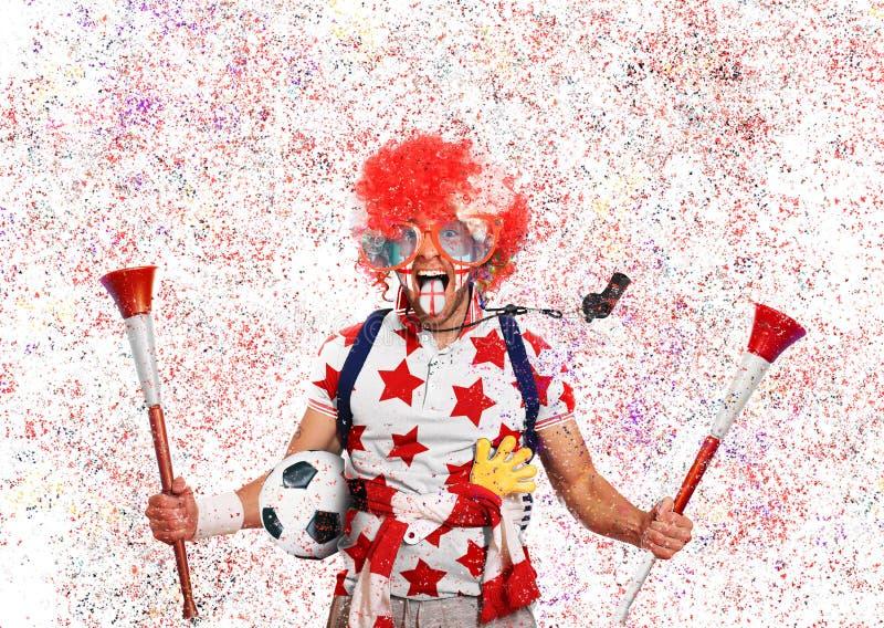 Οπαδός ποδοσφαίρου στοκ εικόνα με δικαίωμα ελεύθερης χρήσης