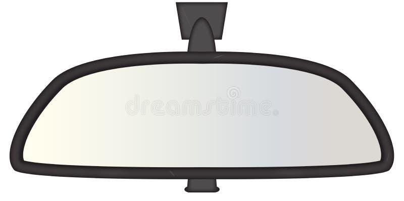 Οπισθοσκόπος καθρέφτης κοντόχοντρος διανυσματική απεικόνιση
