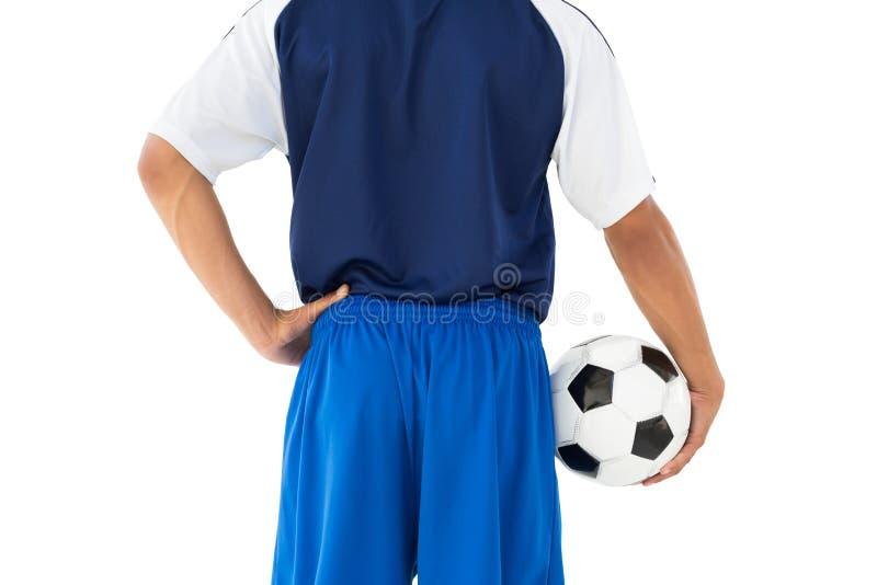Οπισθοσκόπος μέσος ποδοσφαιριστής τμημάτων στοκ φωτογραφίες με δικαίωμα ελεύθερης χρήσης