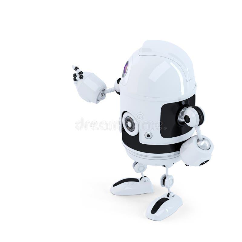 Οπισθοσκόπος του ρομπότ που δείχνει στο invisoble αντικείμενο ελεύθερη απεικόνιση δικαιώματος
