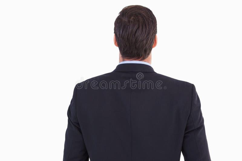 Οπισθοσκόπος του όμορφου επιχειρηματία στοκ εικόνα