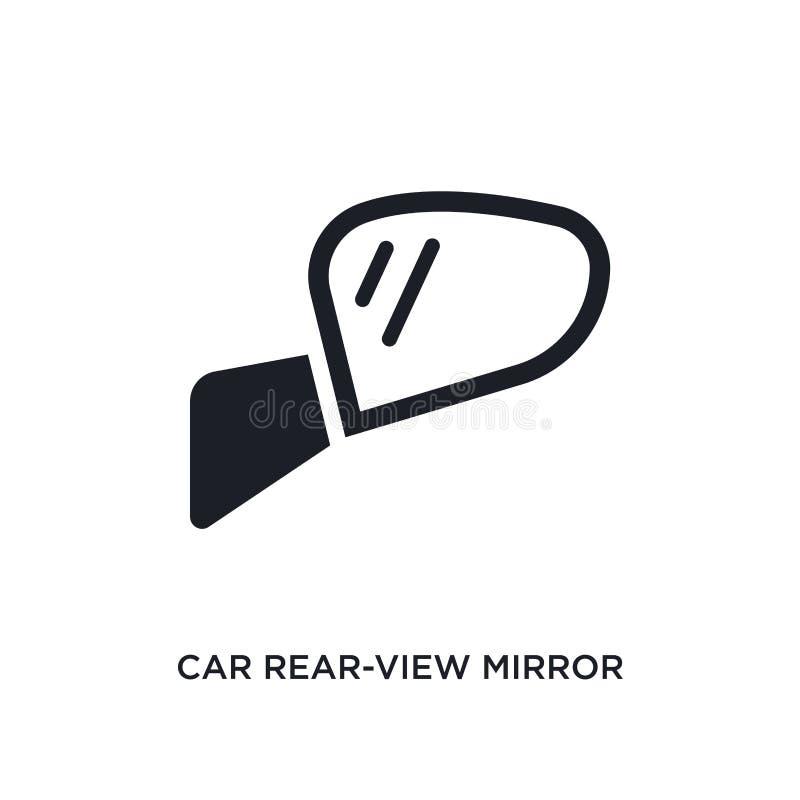 οπισθοσκόπο απομονωμένο καθρέφτης εικονίδιο αυτοκινήτων απλή απεικόνιση στοιχείων από τα εικονίδια έννοιας μερών αυτοκινήτων edit ελεύθερη απεικόνιση δικαιώματος