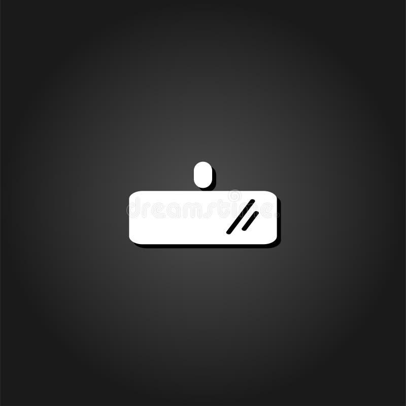Οπισθοσκόπο εικονίδιο καθρεφτών επίπεδο απεικόνιση αποθεμάτων