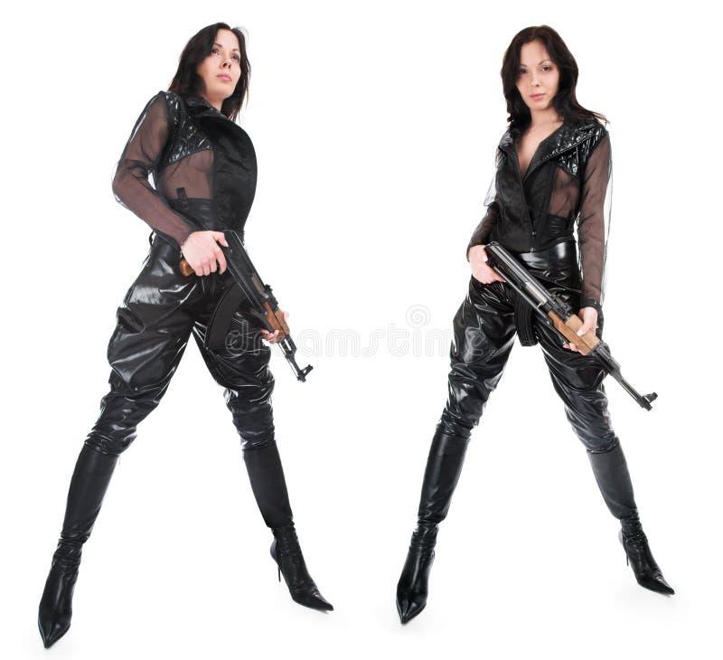 οπλισμένο κορίτσι στοκ φωτογραφία