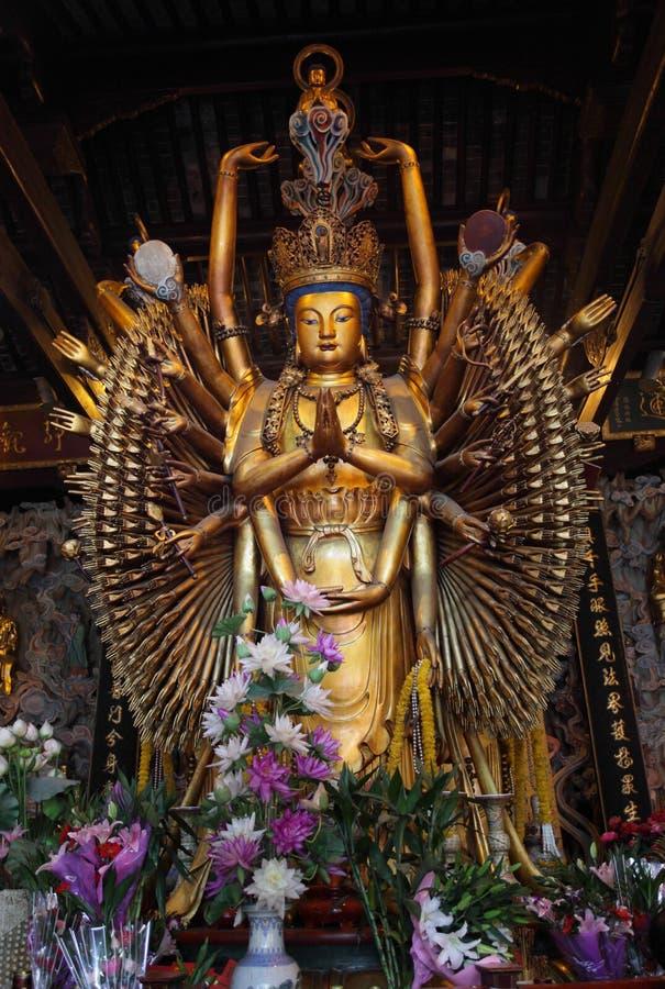 οπλισμένο πολυ άγαλμα τ&omicr στοκ εικόνα