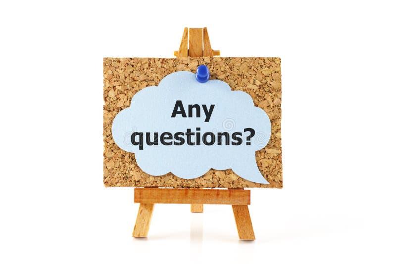 Οποιεσδήποτε ερωτήσεις; στοκ φωτογραφίες