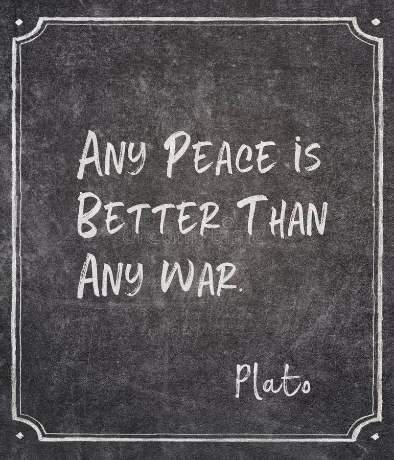 Οποιοδήποτε απόσπασμα Πλάτωνα ειρήνης στοκ εικόνα