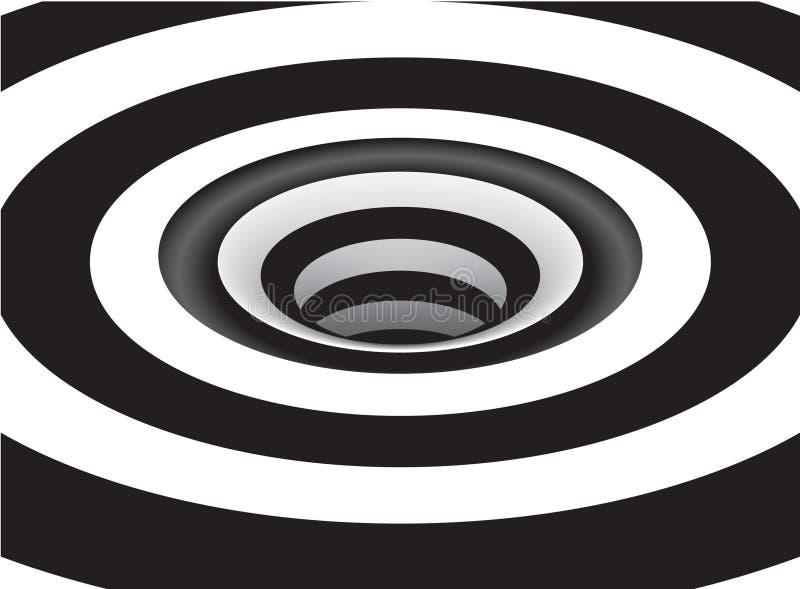 Οπτική δίνη τέχνης διανυσματική απεικόνιση