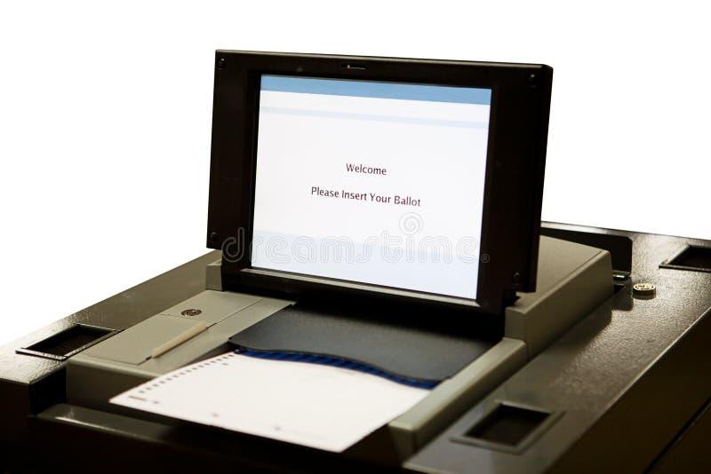 οπτική ψηφοφορία ανίχνευσης μηχανών στοκ φωτογραφία