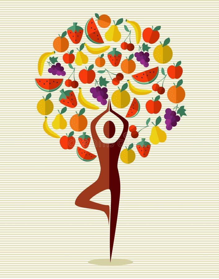 Οπωρωφόρο δέντρο γιόγκας της Ινδίας απεικόνιση αποθεμάτων