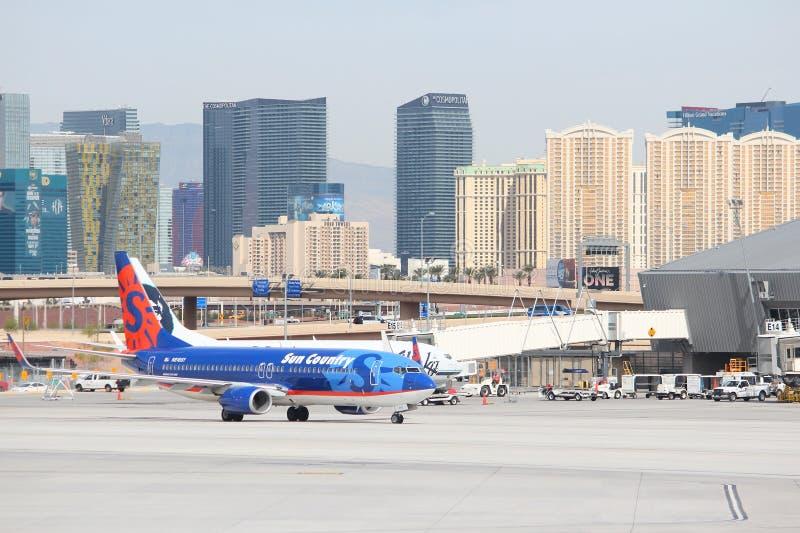 Ορίζοντας αερολιμένων του Λας Βέγκας στοκ εικόνα με δικαίωμα ελεύθερης χρήσης