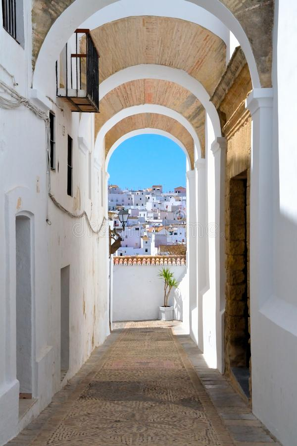 Ορίζοντας από το Λα Frontera, Ανδαλουσία, Ισπανία Vejer de στοκ εικόνες με δικαίωμα ελεύθερης χρήσης